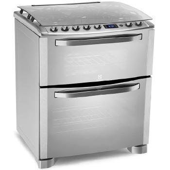 fogao 5b electrolux 2 fornos grill timer  76rxd frete grátis