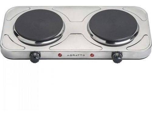 fogao eletrico de mesa 2 bocas fm01 cinza agratto 2000w 127v