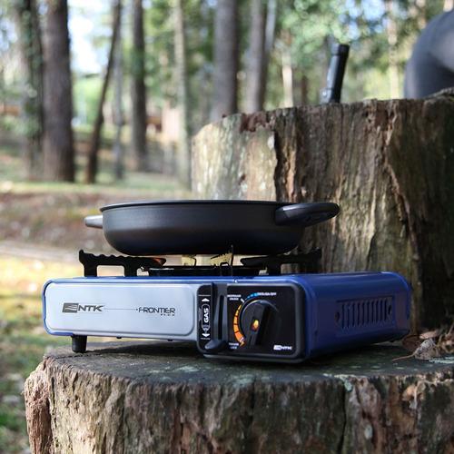 fogareiro fogao camping frontier flex nautika com maleta