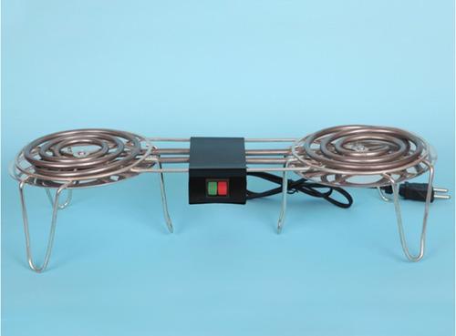 fogareiro fogão elétrico aquecedor marmita duplo 2 bcas 800w
