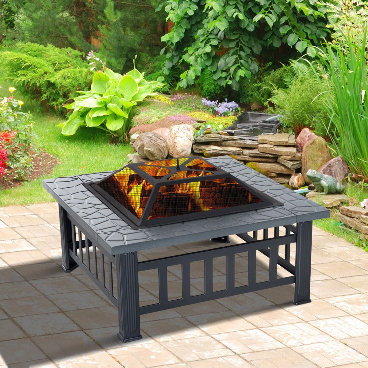 Fogata Exterior Fire Pit Patio Lena Jardin Chimenea 347500 En - Chimenea-jardin