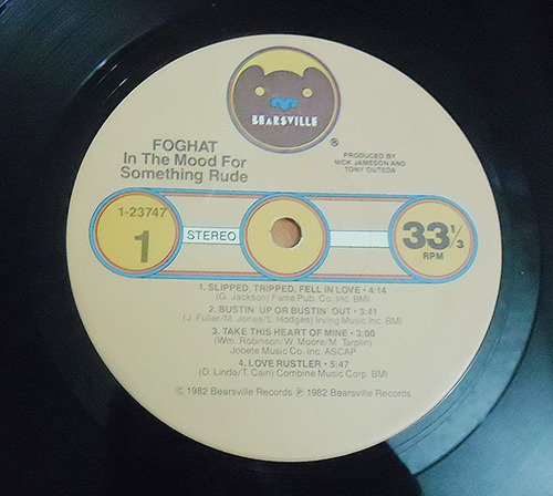 foghat - in the mood for somethig rude - lp importado 1982