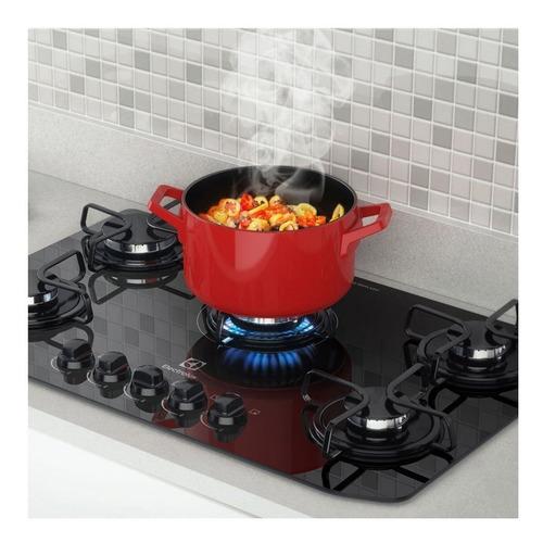 fogão 5 bocas electrolux mesa em vidro cooktop gc70v