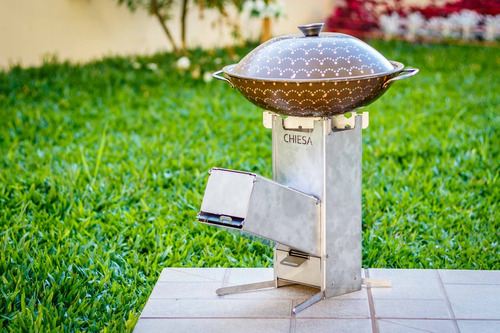 fogão a lenha portátil - sistema rocket stove (envio grátis)