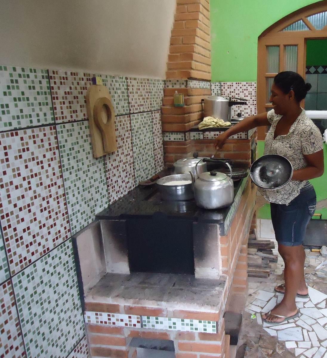 Fogão A Lenha projeto Completo frete Gratis. R$ 1 20 em Mercado  #518942 1096 1200