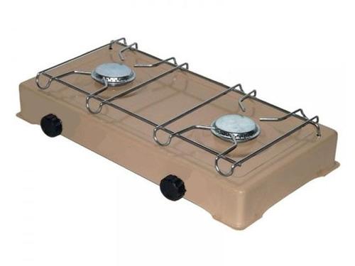 fogão camping cozinha portatil 2 bocas a gas fogareiro