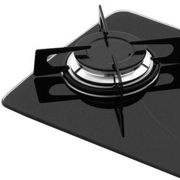 fogão cooktop 2 bocas a gas 11474 preto de embutir fischer