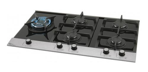 fogão cooktop 5 bocas a gás platinium preto 23299 - fischer