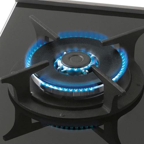 fogão cooktop fischer 1 boca tripla chama platinium gás