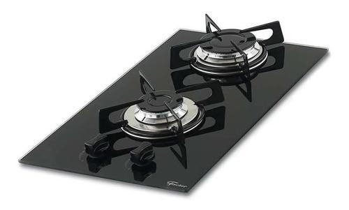 fogão cooktop fischer 2 bocas gás mesa vidro