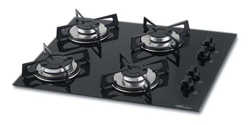 fogão cooktop fischer 4 bocas gás mesa vidro 1519-5713