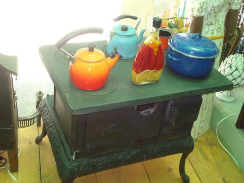 fogão de ferro a carvão fundição antiga 5 bocas