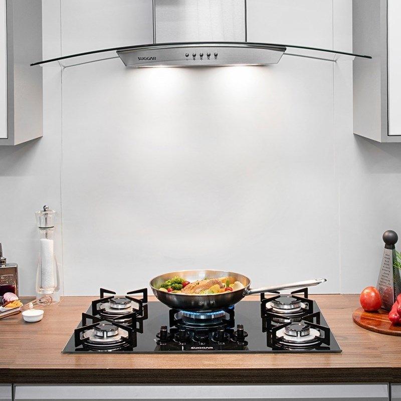 3213743f3 fogão de mesa cooktop 5 bocas vidro preto gás suggar bivolt. Carregando  zoom.