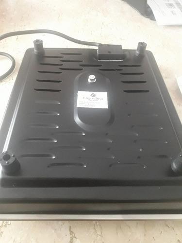 fogão elétrico 1 boca inox 110v - cooktop fogareiro 1200w