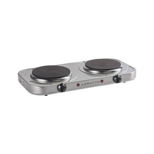 fogão elétrico 2 bocas de mesa aço inox cooktop 2000w 127v