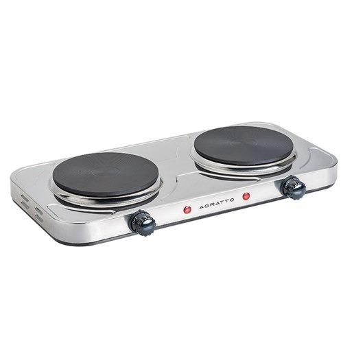 fogão elétrico de mesa 2 pratos 2000 watts agrato 110v
