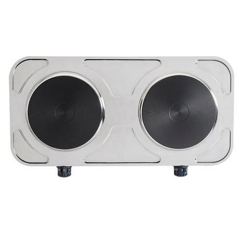 fogão elétrico inox portátil de mesa 2 bocas agratto 220v
