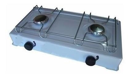 fogão fogareiro 2 bocas para camping portátil a gás frete g