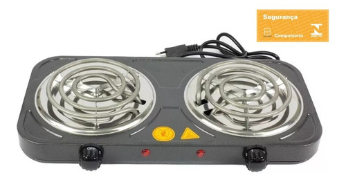 fogão fogareiro elétrico 2 bocas profissional com termostato