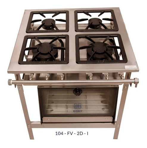 fogão inox 430,metal brey, 4 bocas com forno linha stand