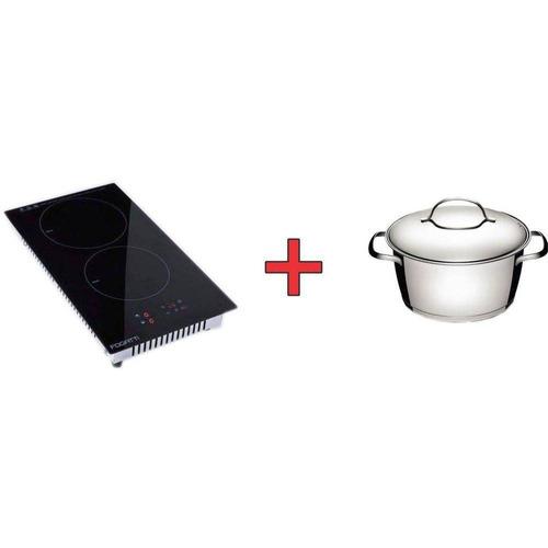 fogão mesa cooktop 2 bocas indução fogatti 220v + caçarola