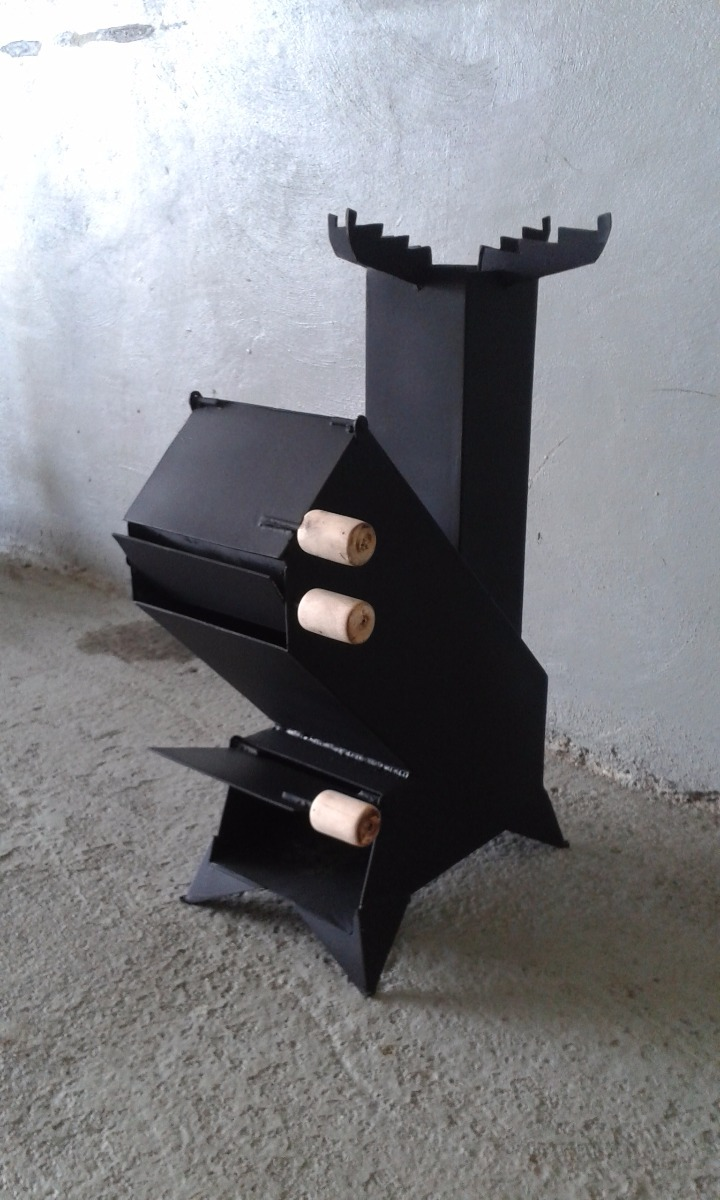 Fogon a le a reverbero rocket stove bs 875 00 en for Fogones de lena fotos