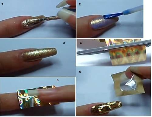 foil transfer para decoracion de uñas paquete de 12 piezas