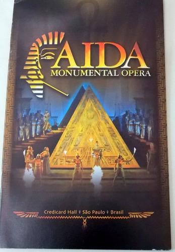 folder aida monumental ópera programa oficial da peça