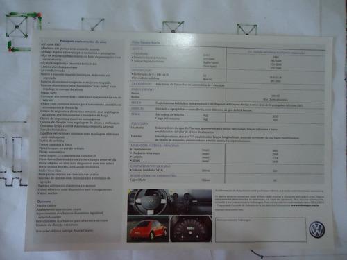 folder catálogo brochura new beetle 2003