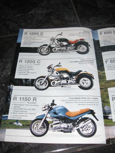 folder / catálogo / pôster bmw motorcycles