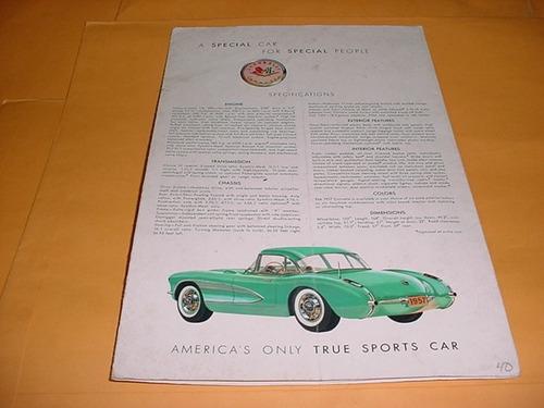folder chevrolet corvette 56 1956 - show