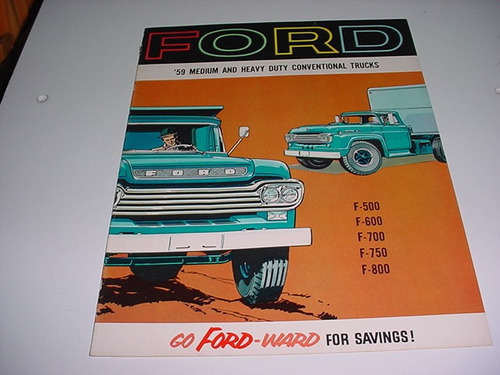 folder ford f600 f-600 caminhao  59 1959 v8