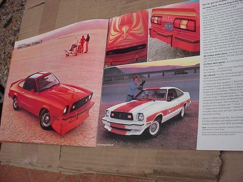 folder ford mustang 78 1978 gt hardtop svo fastback v8 cobra