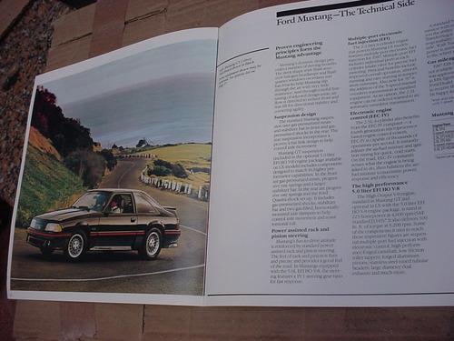 folder ford mustang 87 1987 gt hardtop svo fastback v8 cobra