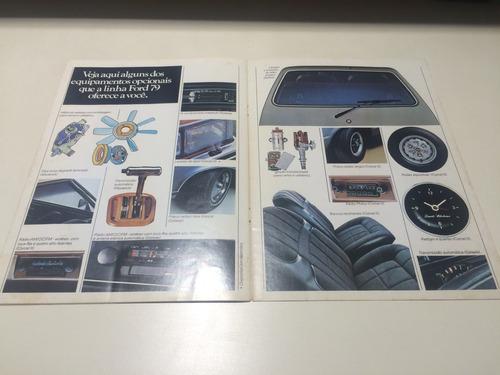 folder raro da ford ano 79 maverick f75 landau f100 corcel