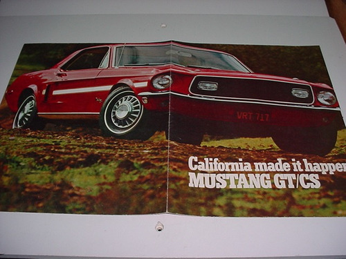 folder raro ford mustang gt / cs raro 68 1968 original v8