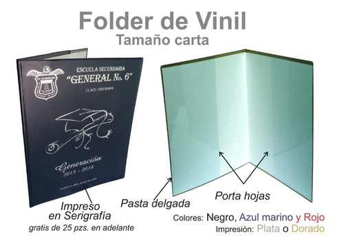 folder t.carta de vinil porta documentos graduacion (estafet