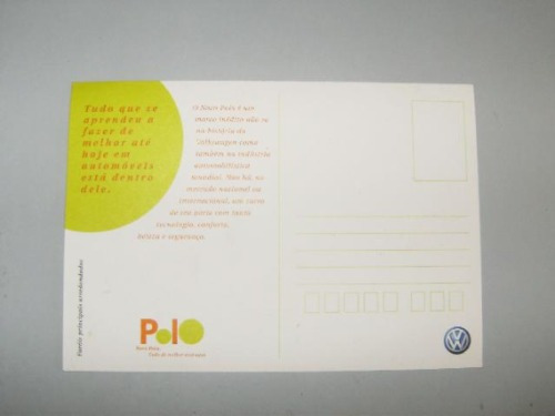 folder/postal de lançamento do vw polo