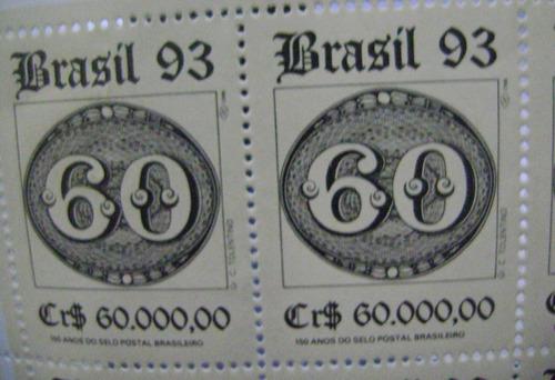 folha com 30 selos (brasil 93/60)