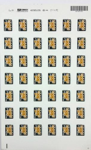 folha com 42 selos carta social