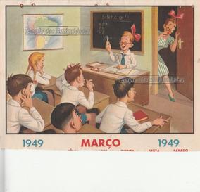 Calendario 1949.Folha De Calendario Parede Antigo Aula 1949 Z