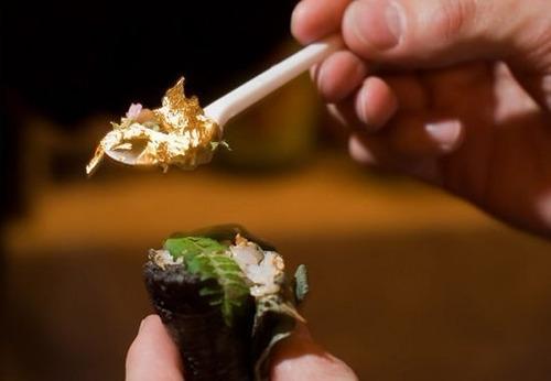 folha de ouro 24 k gourmet em flocos - ouro comestível