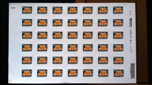 folha de selos carta social rhm 856