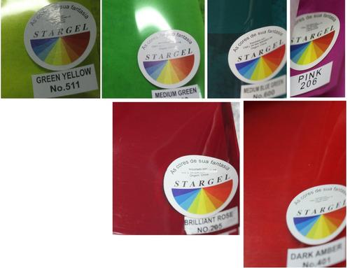 folha filtro gelatina cores rosa verde azul vm am p/refletor