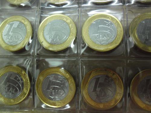 folha plastica moedas 63 divisões 9 furos universal -com aba