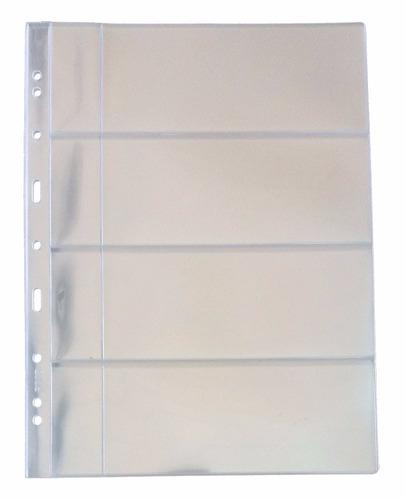 folha plastico cédula acetato 3bzn 4 divisões c/bolso (53118