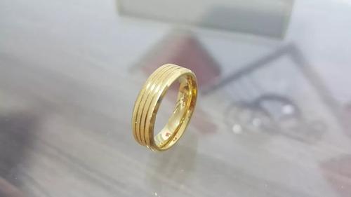 folheada ouro aliança