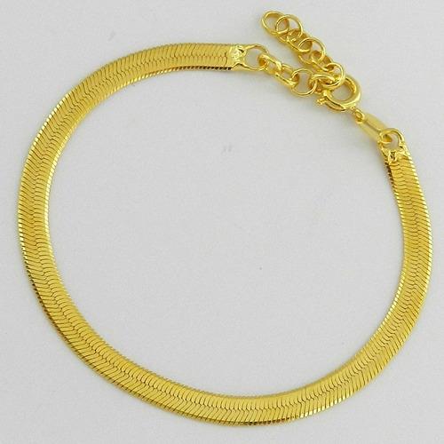 folheada ouro pulseira feminina