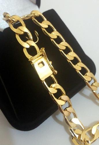folheada ouro pulseira masculina
