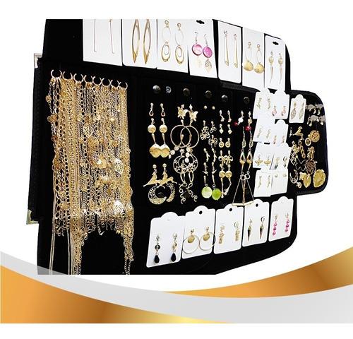 folheado a prata ou ouro kit com 35 pçs mostruario p/atacado